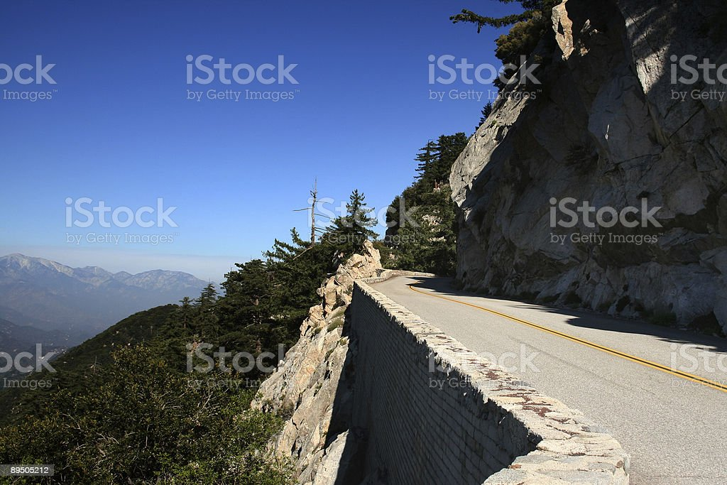 Angeles Crest Mountain Road royalty free stockfoto