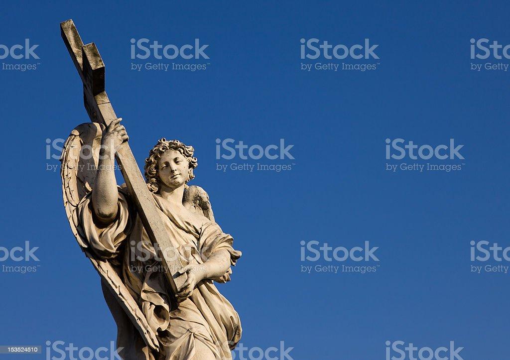 Angeli tra i ponti di Roma royalty-free stock photo
