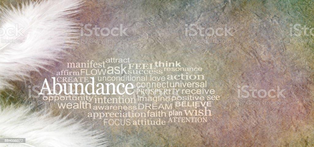 Angelic Abundance Word Cloud stock photo