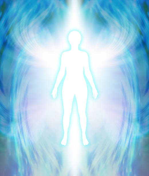 angelic aura cleanse - aura stock photos and pictures
