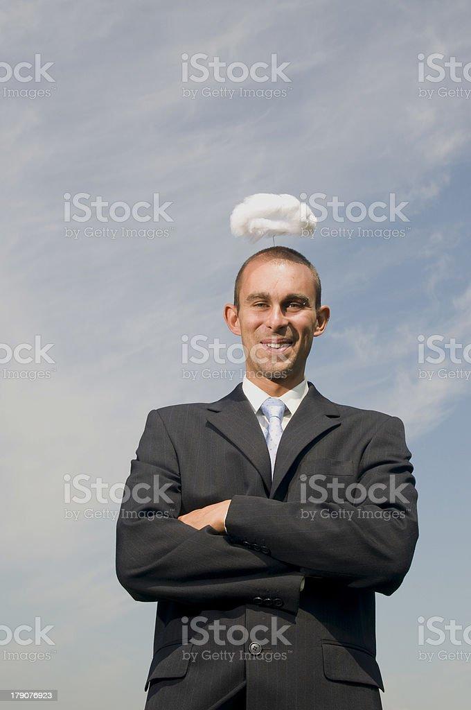 Angelic businessman royalty-free stock photo