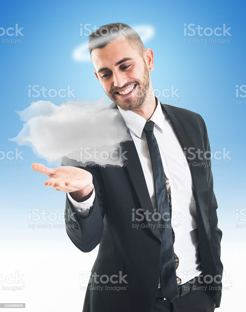Angelic Businessman stock photo