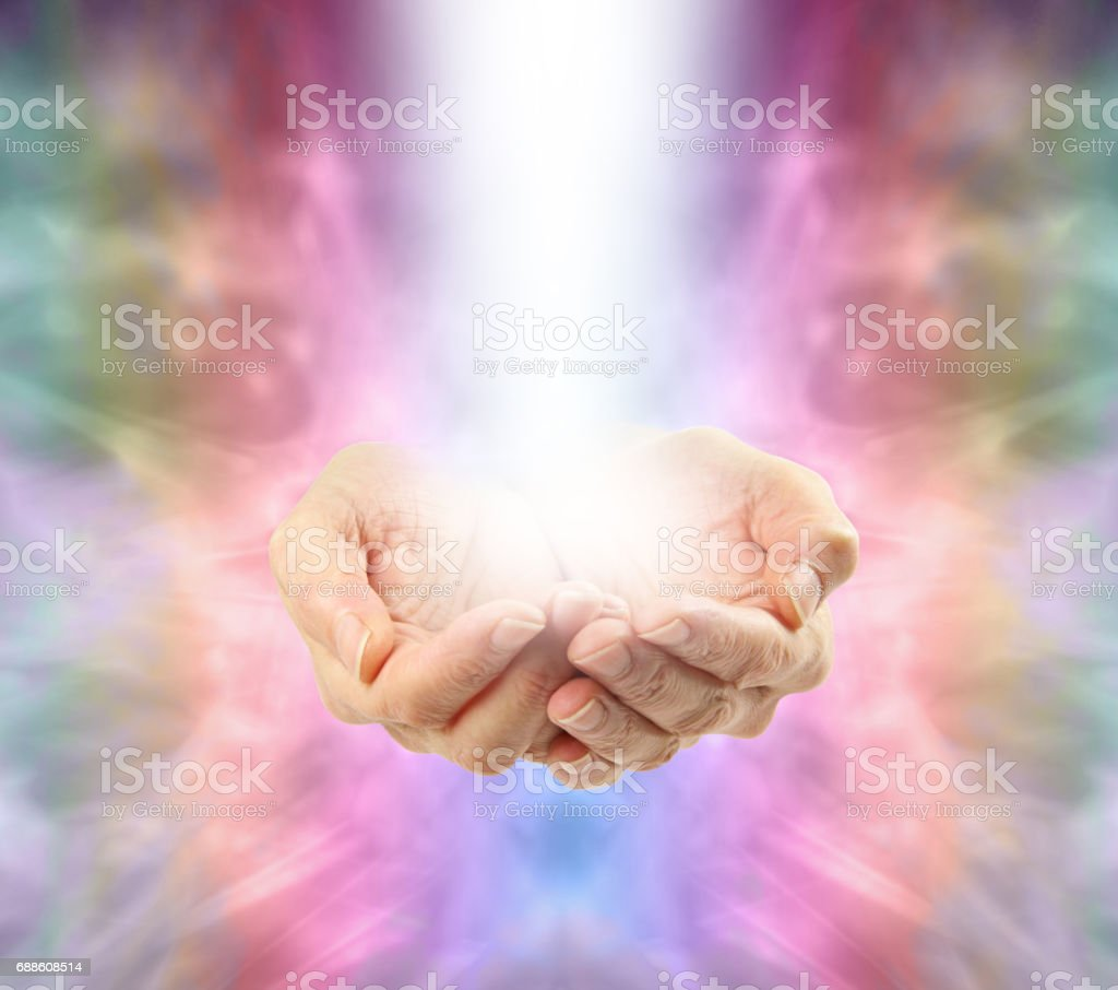 Angelic Healing Energy stock photo