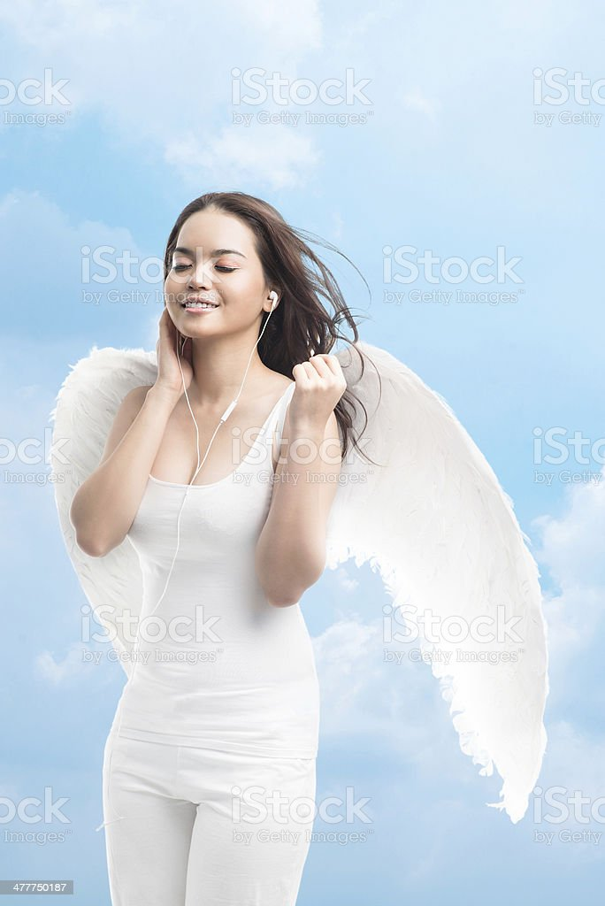 Angelic pleasure royalty-free stock photo