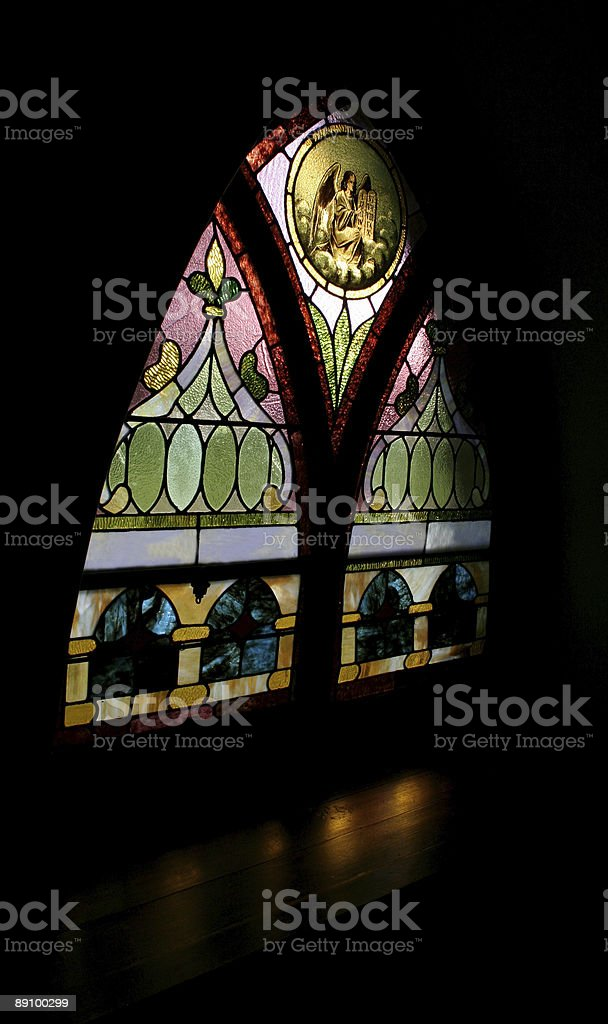 Angelic Stained Glass royalty-free stock photo