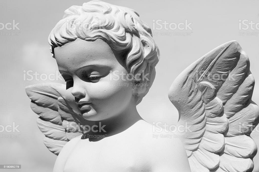 angelic statue stock photo