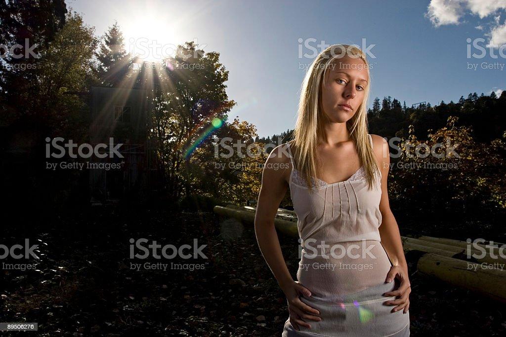 Angélique coucher du soleil photo libre de droits