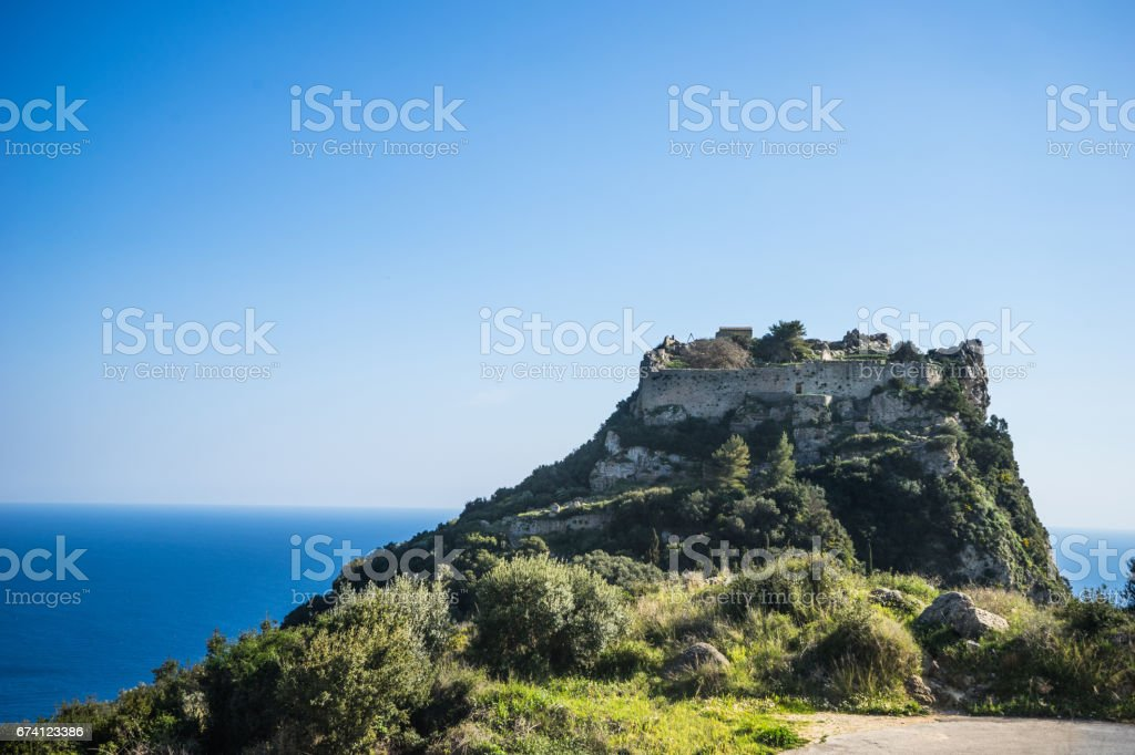 Angelocastro fortress in Corfu island, Greece royalty-free stock photo