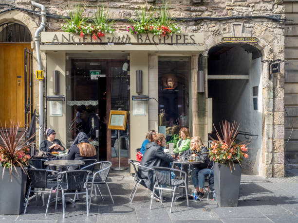Angels and Bagpipes cafe, Edinburgh - foto stock
