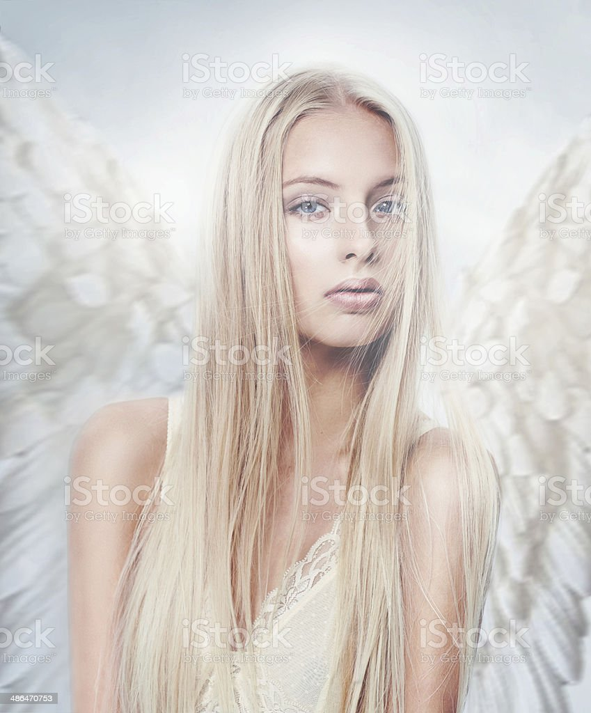 Angels are perfect beings stock photo