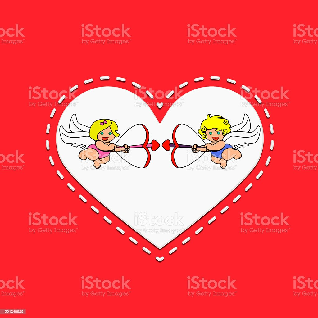 Angels Cupids stock photo