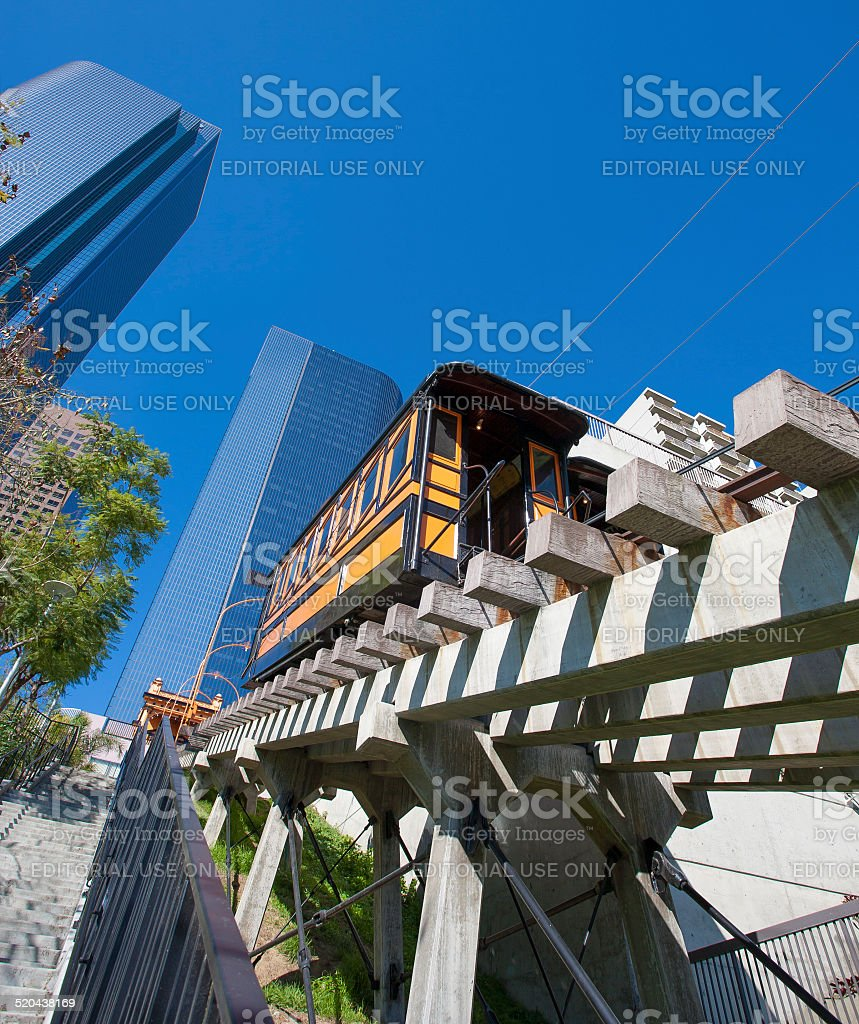 Angels Flight in Downtown Los Angeles stock photo