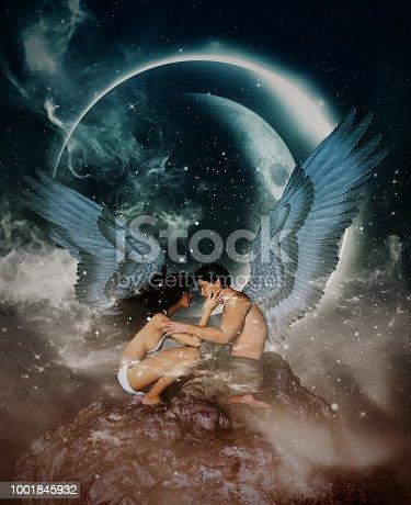 istock Angels in heaven land 1001845932