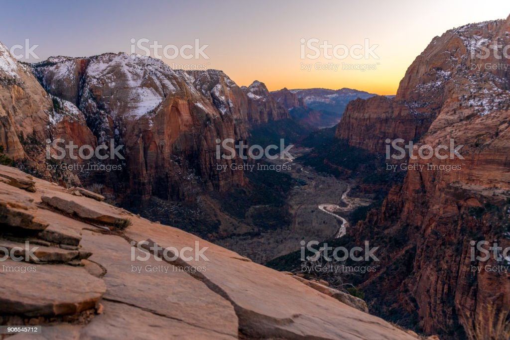 Angels Landing, Zion National Park, Utah stock photo