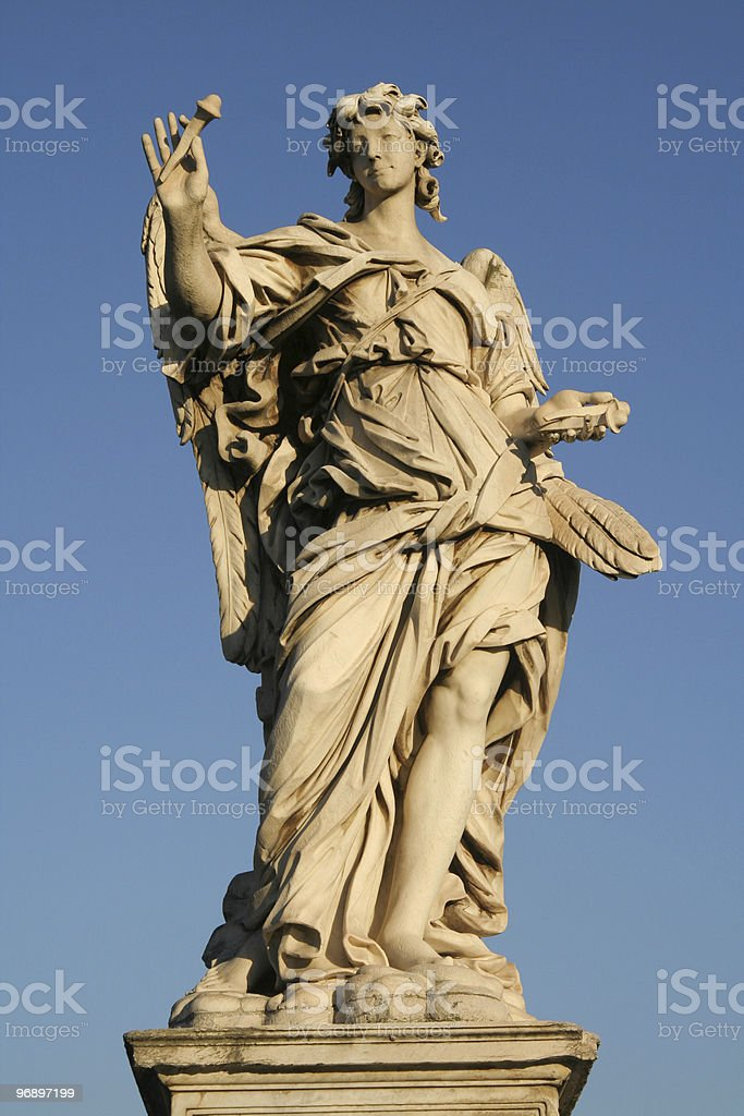 Angels on the Sant'Angelo bridge royalty-free stock photo