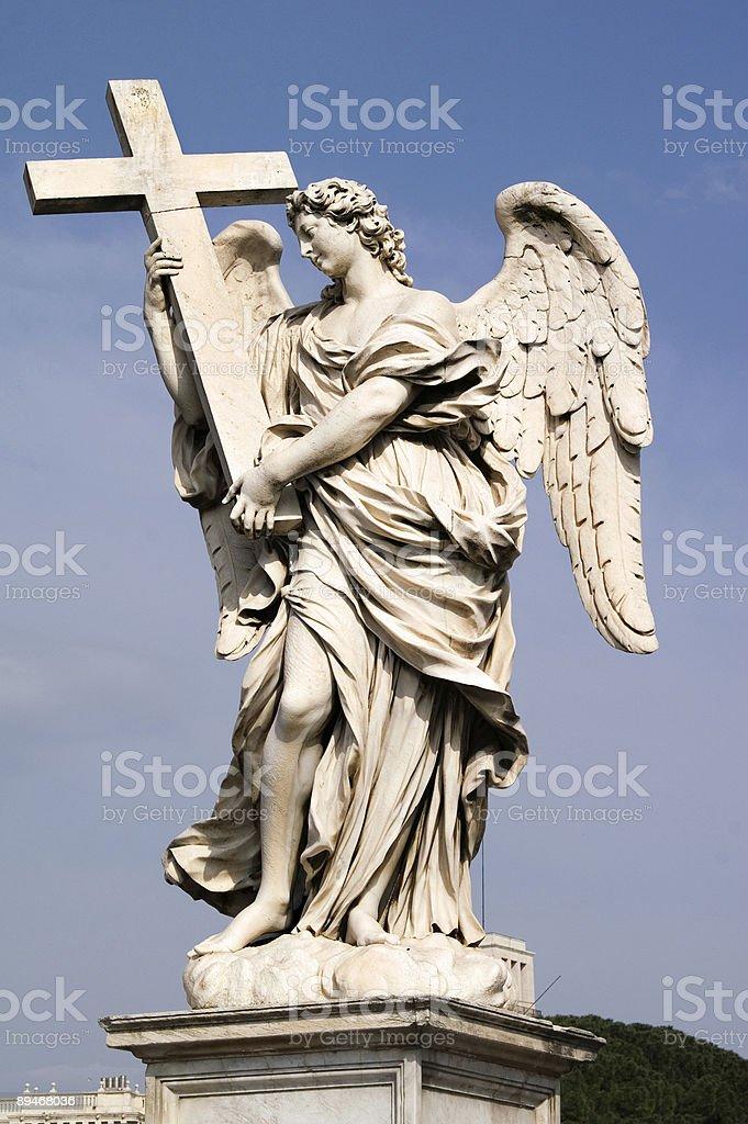 Angel's statue on Ponte Sant' Angelo, Roma, Italy 免版稅 stock photo