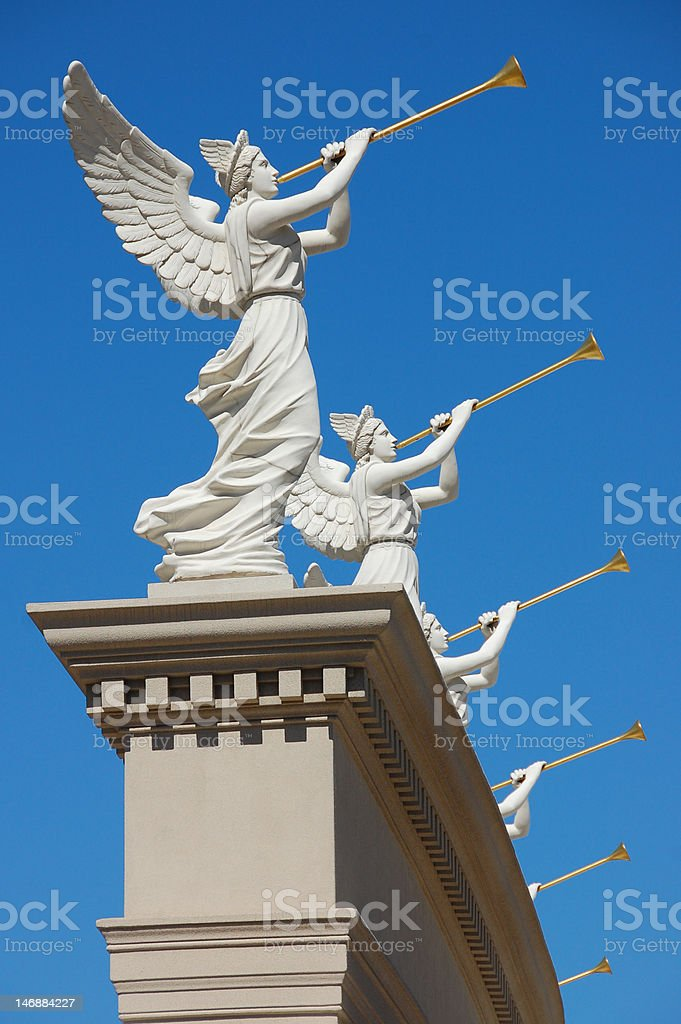 Angels Trumpeting royalty-free stock photo