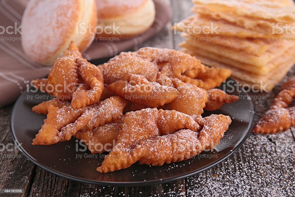 angels wings and donuts stock photo