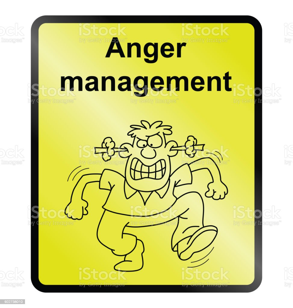 Anger Management Information Sign stock photo