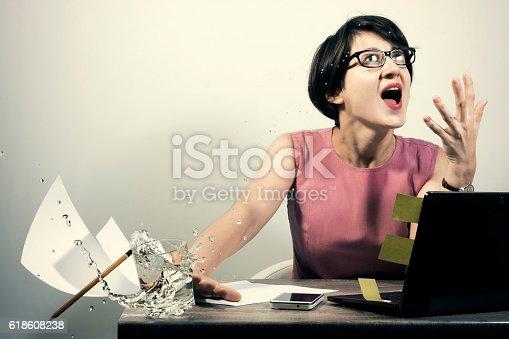 187928332 istock photo Anger on the job 618608238