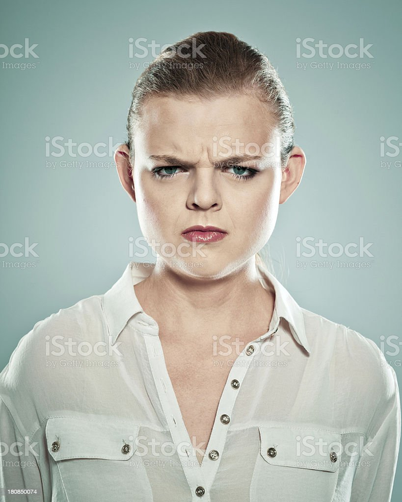 Anger royalty-free stock photo