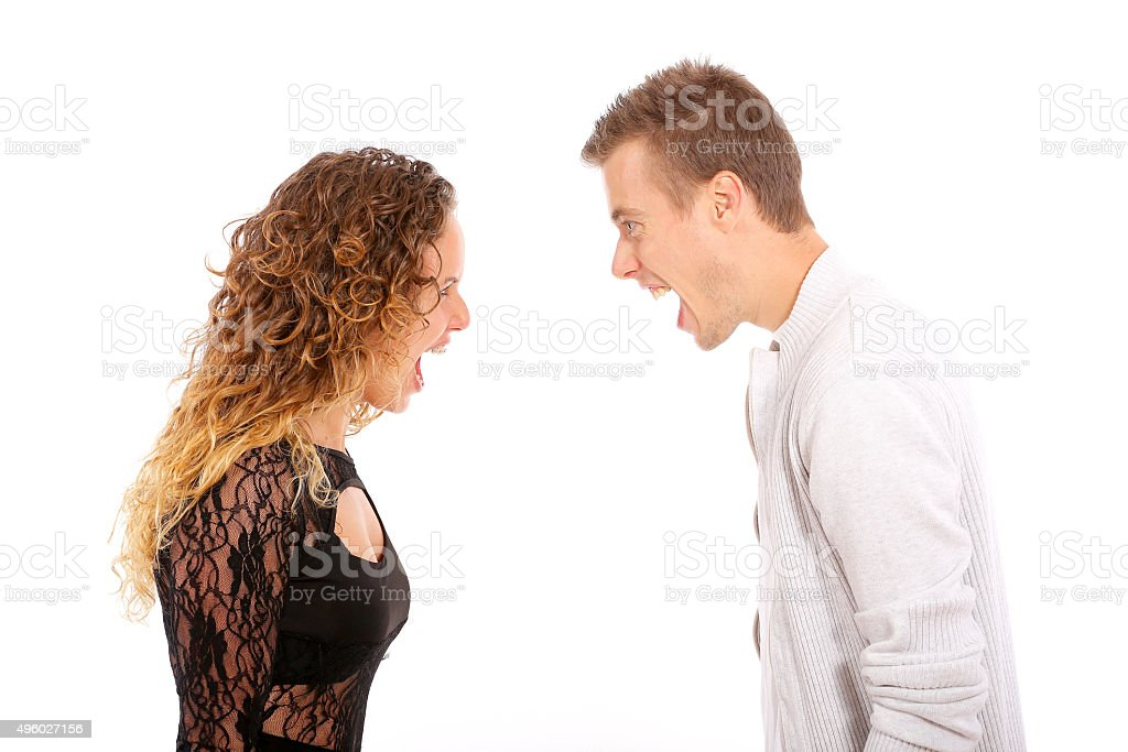 anger, relationship problems stock photo
