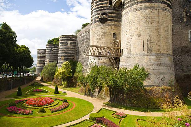 Achat appartement Angers. Angers château, jardin fleurie en pied du château