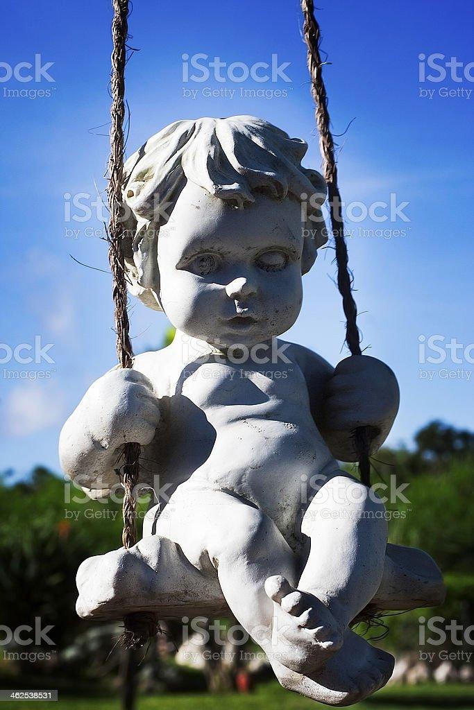 Ange, escultura, - foto de stock