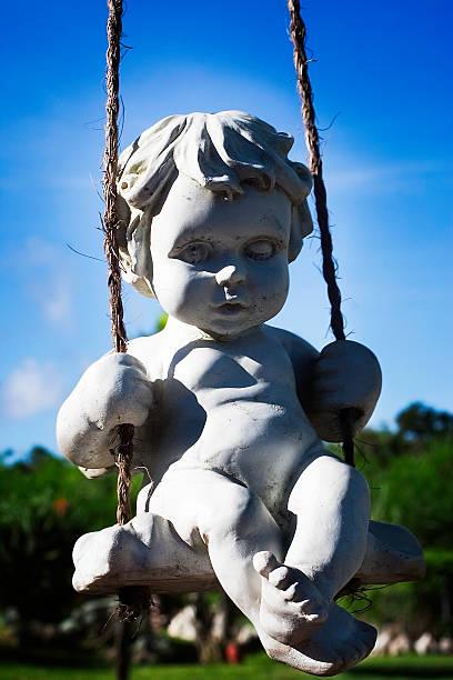 Ange, sculture, - foto de acervo