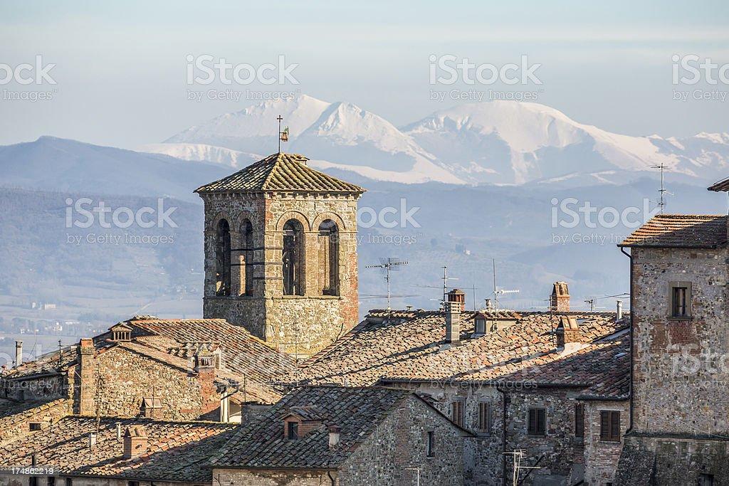 Anghiari cityscape, Tuscany Italy royalty-free stock photo