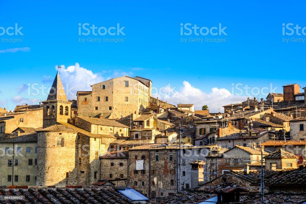 Anghiari Cityscape, Tuscany, Italy - foto stock