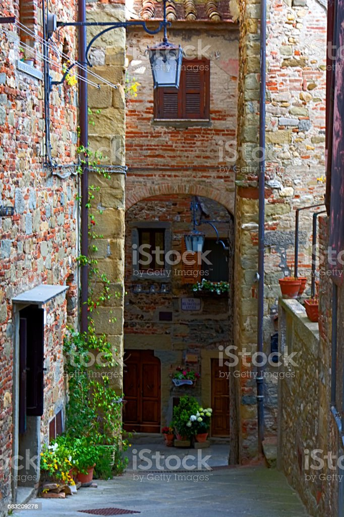 Anghiari near Arezzo, the wonderful country in Italy stock photo