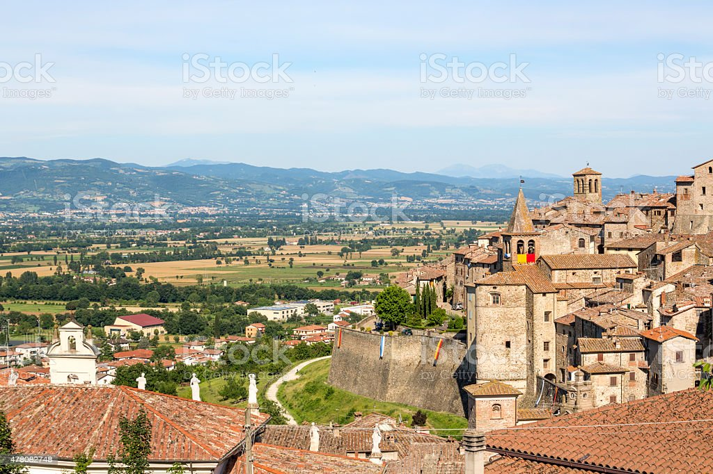 Anghiari skyline, Toscana, Italia - foto stock