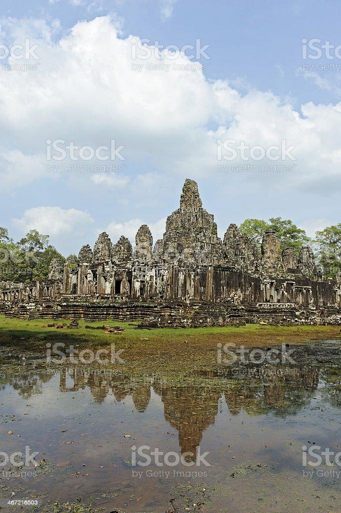 Angkor Bayon Temple at Siem Reap Cambodia royalty-free stock photo
