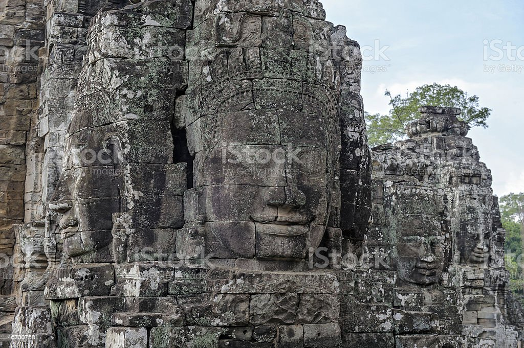 Angkor Bayon Temple at Siem Reap Cambodia royalty-free stock photo