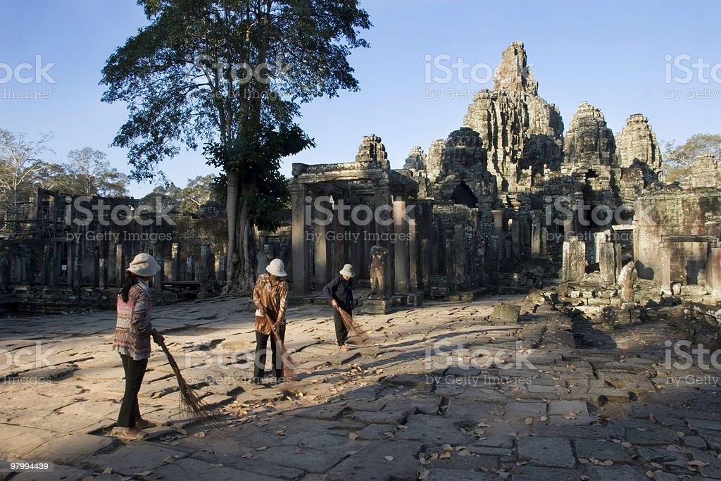 Angkor Gets a Sweeping royalty-free stock photo