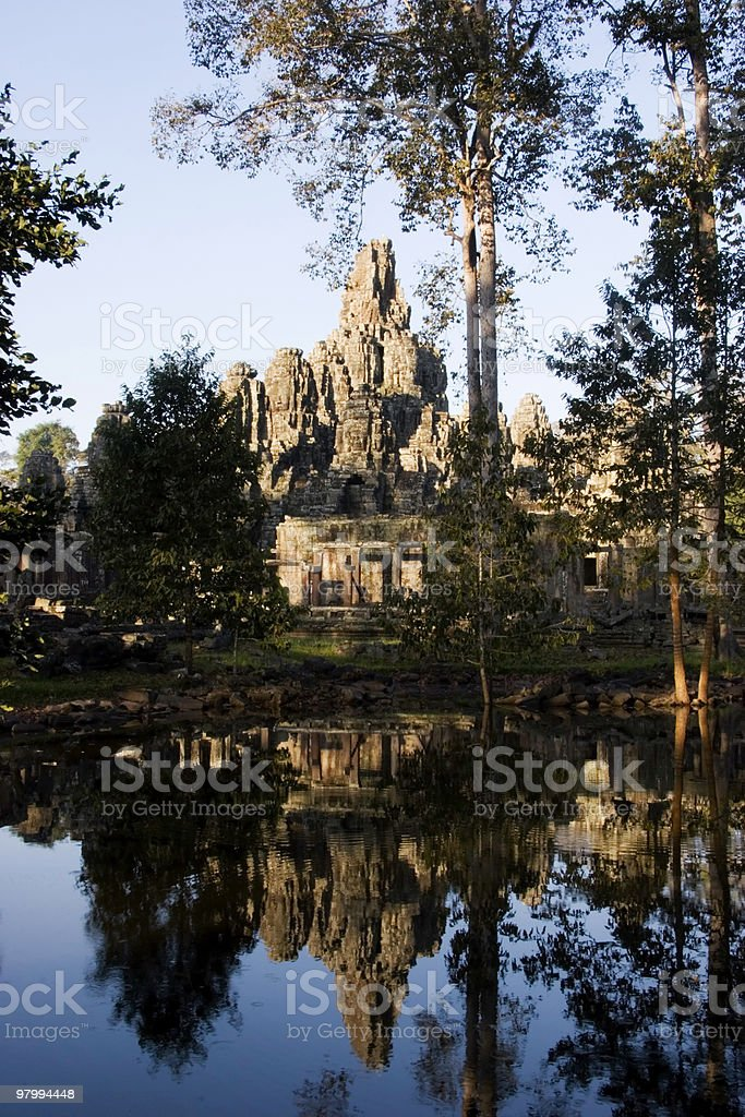 Angkor Ruins Reflection royalty-free stock photo