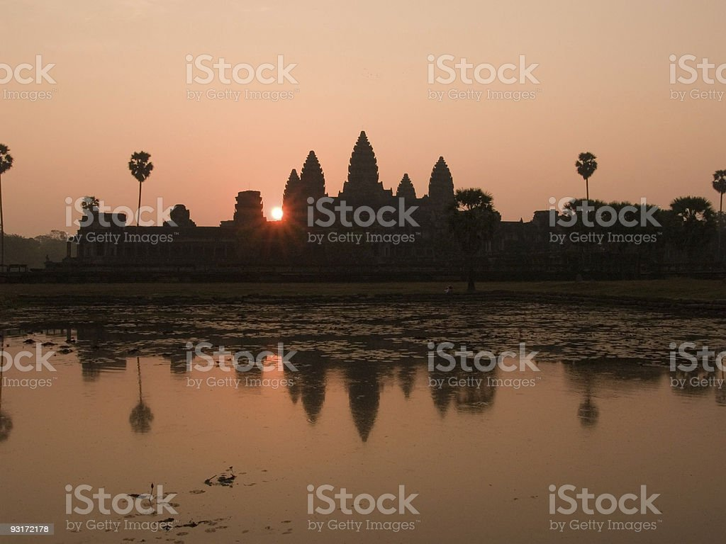 Angkor Sunrise royalty-free stock photo