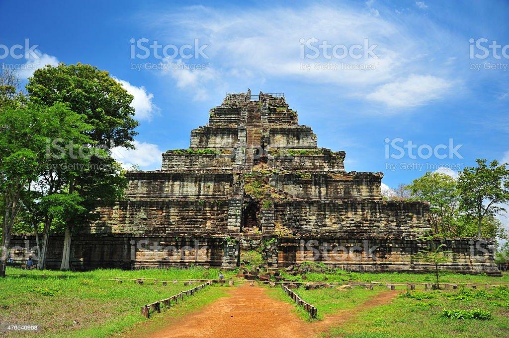 Angkor Temple of Koh Ker in Cambodia stock photo