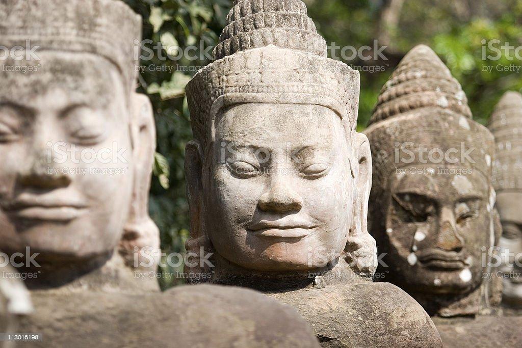 Angkor Thom Deva, Cambodia royalty-free stock photo