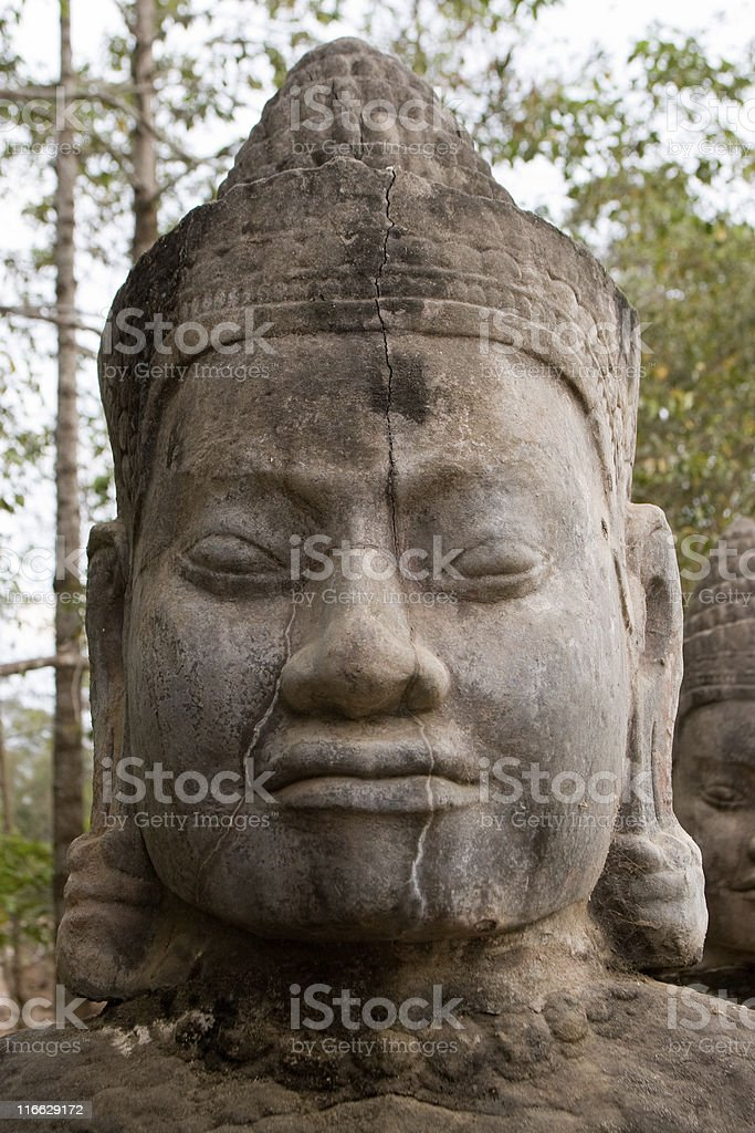 Angkor Thom in Cambodia royalty-free stock photo