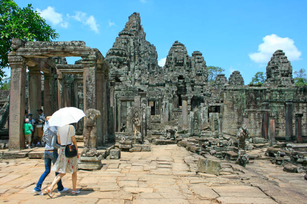 Angkor Thom in Siem Reap stock photo