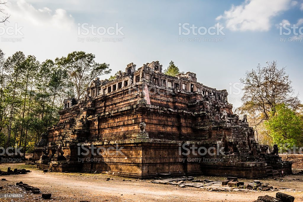 Angkor Thom ruins Cambodia stock photo