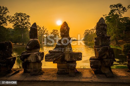 Ancient temple ruins in Angkor Thom Cambodia