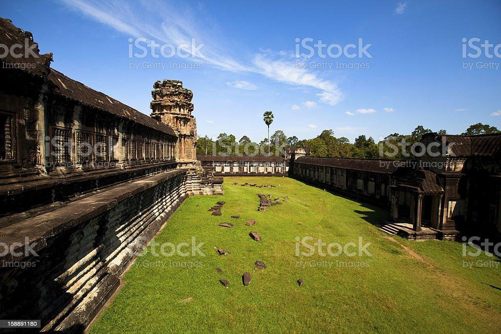 Angkor Thom temple , Cambodia stock photo