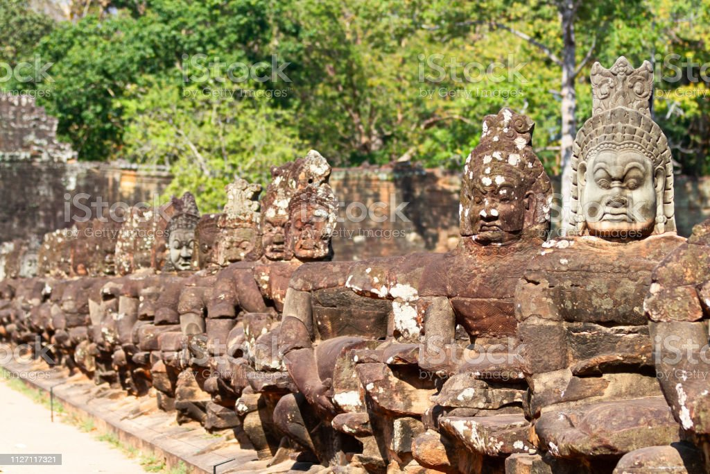 Angkor Thom temple. Siem Reap. Cambodia stock photo