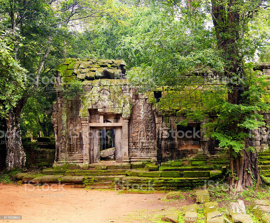 Angkor Wat - a giant Hindu temple complex in Cambodia stock photo