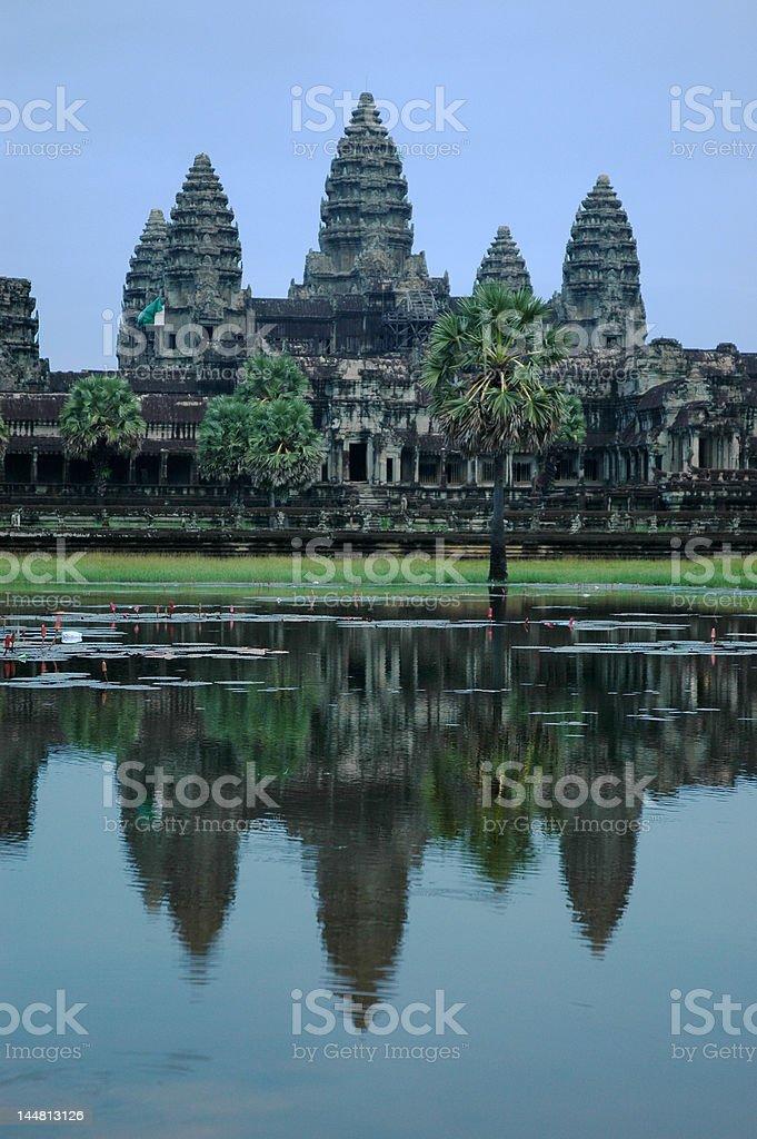 Angkor Wat and reflection royalty-free stock photo