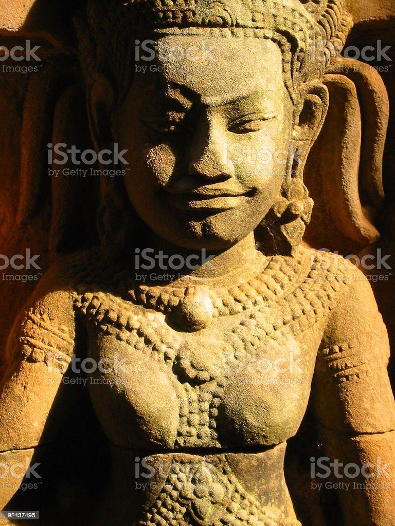 angkor wat asparas temple wall art royalty-free stock photo