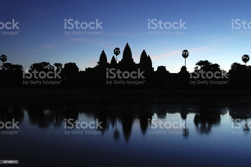 Angkor Wat at Dawn royalty-free stock photo
